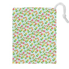 Flowers Roses Floral Flowery Drawstring Pouches (xxl)