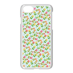 Flowers Roses Floral Flowery Apple Iphone 7 Seamless Case (white)