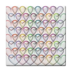 Valentine Hearts 3d Valentine S Day Tile Coasters