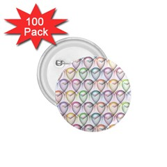 Valentine Hearts 3d Valentine S Day 1.75  Buttons (100 pack)