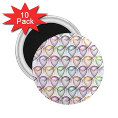 Valentine Hearts 3d Valentine S Day 2 25  Magnets (10 Pack)