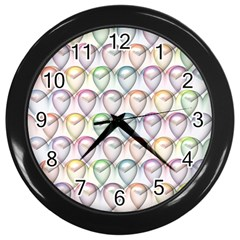 Valentine Hearts 3d Valentine S Day Wall Clocks (black)