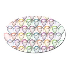 Valentine Hearts 3d Valentine S Day Oval Magnet