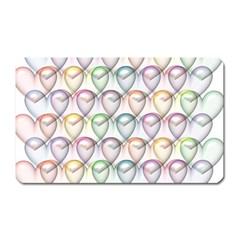 Valentine Hearts 3d Valentine S Day Magnet (Rectangular)