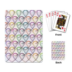 Valentine Hearts 3d Valentine S Day Playing Card