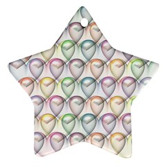 Valentine Hearts 3d Valentine S Day Star Ornament (Two Sides)