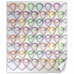Valentine Hearts 3d Valentine S Day Canvas 8  X 10