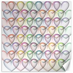 Valentine Hearts 3d Valentine S Day Canvas 16  X 16