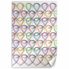 Valentine Hearts 3d Valentine S Day Canvas 20  X 30