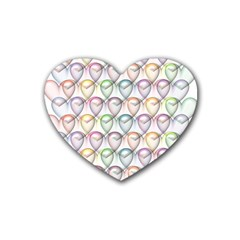 Valentine Hearts 3d Valentine S Day Rubber Coaster (heart)