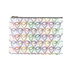 Valentine Hearts 3d Valentine S Day Cosmetic Bag (large)