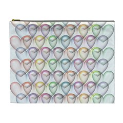 Valentine Hearts 3d Valentine S Day Cosmetic Bag (xl)