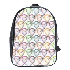 Valentine Hearts 3d Valentine S Day School Bags(Large)