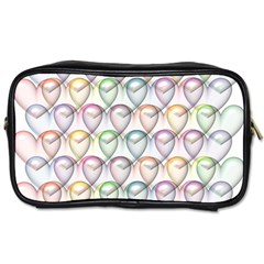 Valentine Hearts 3d Valentine S Day Toiletries Bags 2 Side