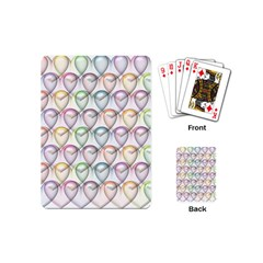 Valentine Hearts 3d Valentine S Day Playing Cards (mini)
