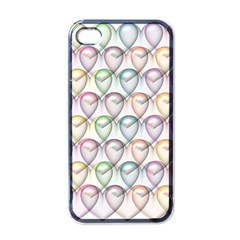 Valentine Hearts 3d Valentine S Day Apple Iphone 4 Case (black)