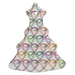 Valentine Hearts 3d Valentine S Day Christmas Tree Ornament (two Sides)