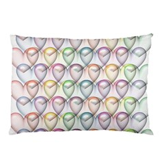 Valentine Hearts 3d Valentine S Day Pillow Case (two Sides)