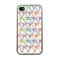 Valentine Hearts 3d Valentine S Day Apple Iphone 4 Case (clear)