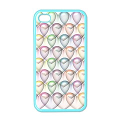 Valentine Hearts 3d Valentine S Day Apple Iphone 4 Case (color)