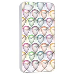 Valentine Hearts 3d Valentine S Day Apple Iphone 4/4s Seamless Case (white)