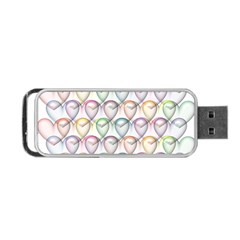 Valentine Hearts 3d Valentine S Day Portable Usb Flash (two Sides)