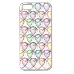 Valentine Hearts 3d Valentine S Day Apple Seamless iPhone 5 Case (Clear)
