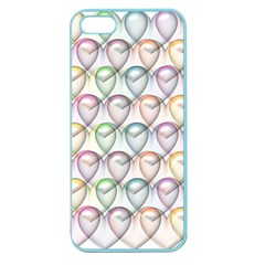 Valentine Hearts 3d Valentine S Day Apple Seamless Iphone 5 Case (color)
