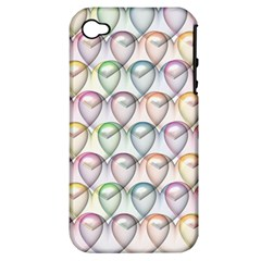 Valentine Hearts 3d Valentine S Day Apple Iphone 4/4s Hardshell Case (pc+silicone)