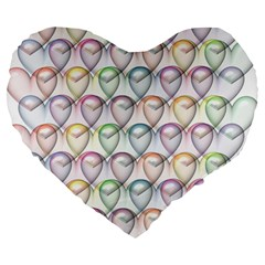 Valentine Hearts 3d Valentine S Day Large 19  Premium Heart Shape Cushions