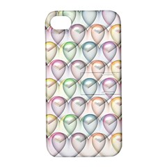 Valentine Hearts 3d Valentine S Day Apple iPhone 4/4S Hardshell Case with Stand