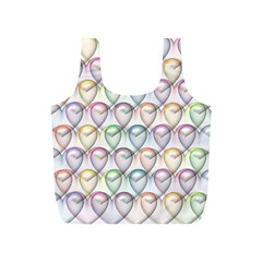 Valentine Hearts 3d Valentine S Day Full Print Recycle Bags (s)