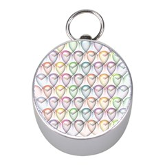 Valentine Hearts 3d Valentine S Day Mini Silver Compasses