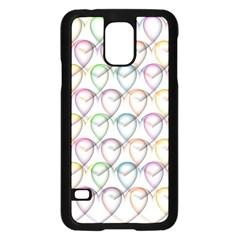 Valentine Hearts 3d Valentine S Day Samsung Galaxy S5 Case (black)
