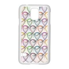 Valentine Hearts 3d Valentine S Day Samsung Galaxy S5 Case (white)