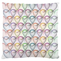 Valentine Hearts 3d Valentine S Day Large Flano Cushion Case (One Side)