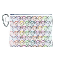 Valentine Hearts 3d Valentine S Day Canvas Cosmetic Bag (L)