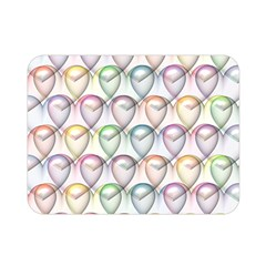 Valentine Hearts 3d Valentine S Day Double Sided Flano Blanket (mini)