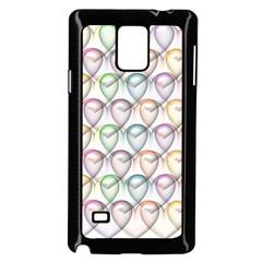 Valentine Hearts 3d Valentine S Day Samsung Galaxy Note 4 Case (black)