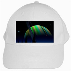 Planets In Space Stars White Cap
