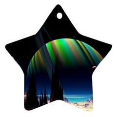 Planets In Space Stars Ornament (Star)