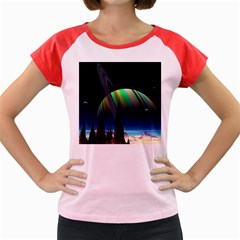 Planets In Space Stars Women s Cap Sleeve T Shirt