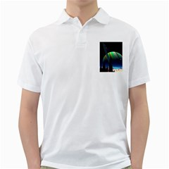 Planets In Space Stars Golf Shirts