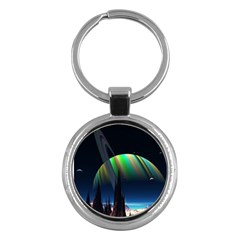 Planets In Space Stars Key Chains (round)
