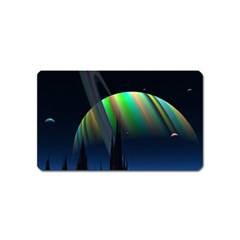 Planets In Space Stars Magnet (Name Card)
