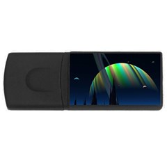 Planets In Space Stars USB Flash Drive Rectangular (1 GB)
