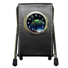 Planets In Space Stars Pen Holder Desk Clocks