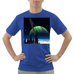 Planets In Space Stars Dark T Shirt