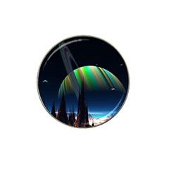 Planets In Space Stars Hat Clip Ball Marker