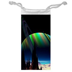 Planets In Space Stars Jewelry Bag